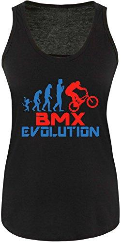 EZYshirt® BMX Evolution Damen Tanktop Schwarz/Blau/Rot