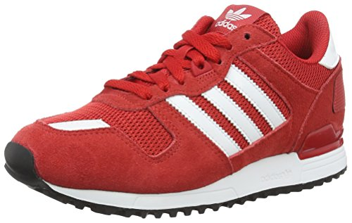 adidas Zx 700, Chaussures de Sport Mixte Adulte Rouge (Scarlet/ftwr White/core Black)