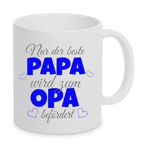 TassenKing(TM) - Nur der beste Papa wird zum Opa befördert - Kaffeetasse als Geschenkidee. Bester Papa wird zum Opa. Geschenk Papa Tasse. Bester Papa Kaffeetasse