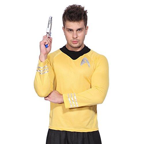 Anladia Jungenkostüm Herrenkostüm Karneval Langarm Star Trek T-Shirt Cosplay Shirt Uniform Kostüm für Herren