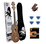 MEGA PACK :Ukelele Octopus Soprano Mod. UK 200 NT Madera Natural (Incluye Ukelele...