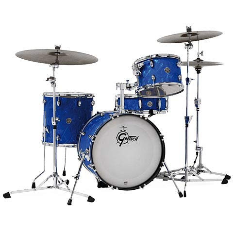 Gretsch Drums Catalina Club Series 18' Blue Satin Flame Drumset · Batterie acoustique
