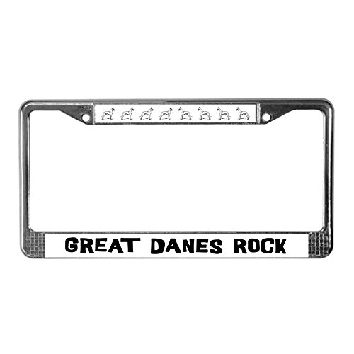 CafePress dänischen Doggen Rock Nummernschild Rahmen Lizenz Rahmen-Standard -