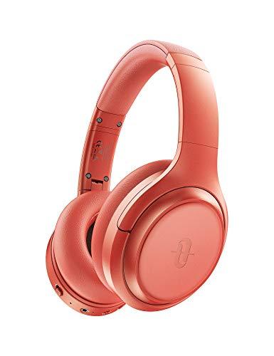 TaoTronics Active Noise Cancelling Bluetooth 5.0 Kopfhörer Tiefer Bass mit CVC Geräuschunterdrückendes Mikrofon 30 Std. Wiedergabedauer, Orange