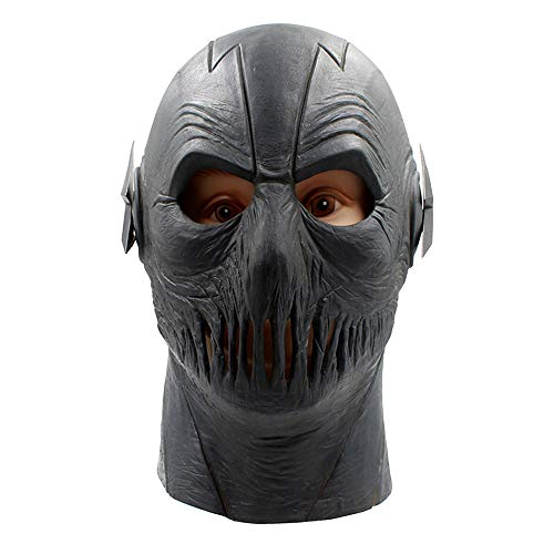 Hope Schwarz The Flash Mask Halloween Cosplay Vollkopf Masken Film Charakter Erwachsene Party Kostüm Zubehör Maskerade Requisiten,Black-OneSize
