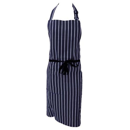 dennys-grembiule-da-cuoco-unisex-taglia-unica-blu-navy-bianco