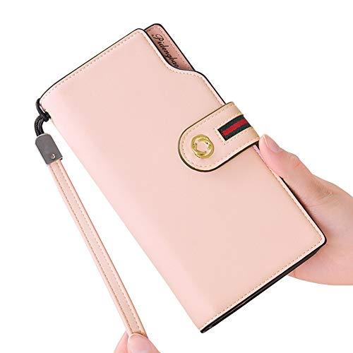 IOIOA Frauen Leder Geldbörsen Große Kapazität Zip Around Kreditkarteninhaber Multi Card Organizer Größe 19,5 cm * 10,0 cm * 2,5 cm - Zip Around Organizer