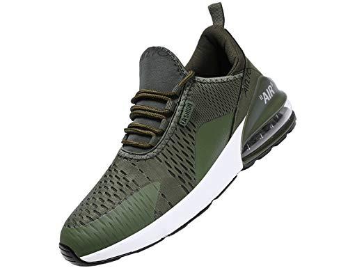 Las zapatillas deportivas con amortiguador de aire flexible te permiten correr por las calles con comodidad con una amortiguación máxima y flexible,malla ligera que te ayuda a mantener los pies frescos. Característica del producto: 1. Transpirable ma...
