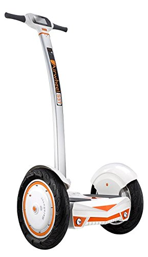 Patinete eléctrico Airwheel S3, Chicos mujer Hombre Jóvenes Niños, White/Orange, L 613mm - H 1280mm - P 587mm