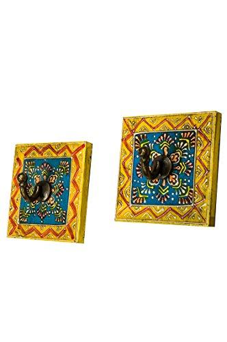2 Stück Vintage Garderobe Kleiderhaken Istari 2 Klein 10cm groß 1er Haken | Hakenleiste Wandhaken...