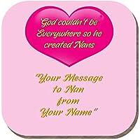 Yummy Grandmummy - Posavasos con Mensaje a Nan con Texto en inglés Merry Christmas Nan Elizabeth