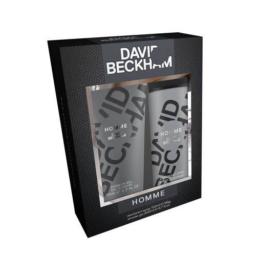 David Beckham Homme Körperspray und Duschgel, 1er Pack (1 x 150 ml)
