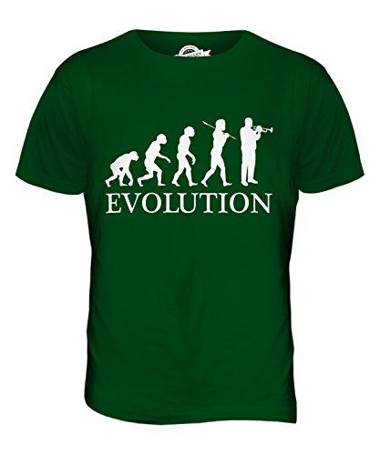 Candymix Trompete Evolution Des Menschen Herren T Shirt, Größe 5X-Large, Farbe Flaschengrün Mts Fällen