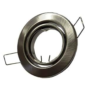 10x Metall Einbaustrahler Einbauspot in Eisengebürstet matt ideal für LED
