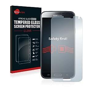 Samsung Galaxy S5 / S5 Neo Verre Trempé [1 Pack] - Savvies Protecteur Vitre Film Protection écran - Dureté 9H