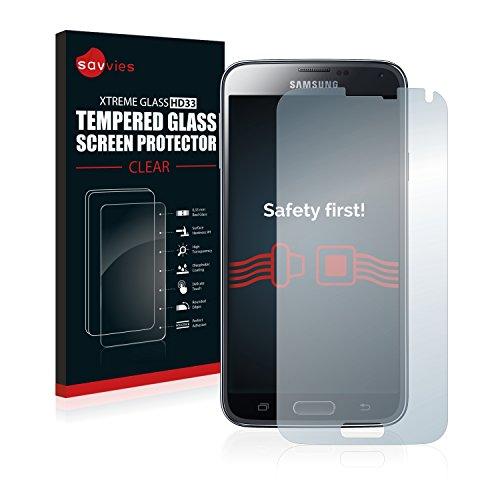 Savvies Vetro Temperato Compatibile con Samsung Galaxy S5 / S5 Neo Pellicola Prottetiva - Durezza 9H