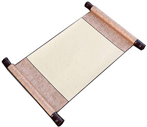 Pergamino chino pintura en blanco antiguo rollo de papel de arroz (50 * 27 cm), H2 - H2 Media