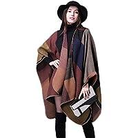 Poncho para Mujer, Fascigirl Abrigo del Poncho del Invierno del Modelo del MantóN del Chal del Cabo del Cabo Abierto para las Señoras