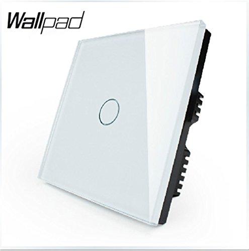 Preisvergleich Produktbild Wallpad 3 Farben Glas Panel Touch-Sensor Fernbedienung Wandschalter,  11000 W Lampen geeignet - 1 gang 1 way remote switch - weiß