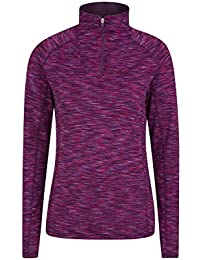 Mountain Warehouse Chakra Ii Womens Half Zip Midlayer - Lightweight, Quick Dry, Highly Wicking & Breathable IsoCool Fabric with Half-Zip & Flat Seams - Perfect for Layering