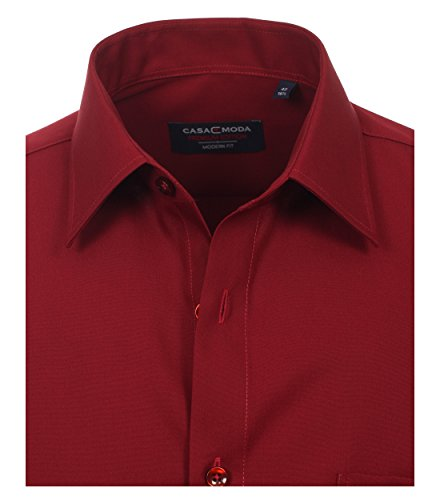 CASAMODA Herren Slim Fit Business Hemd 006550 Weinrot