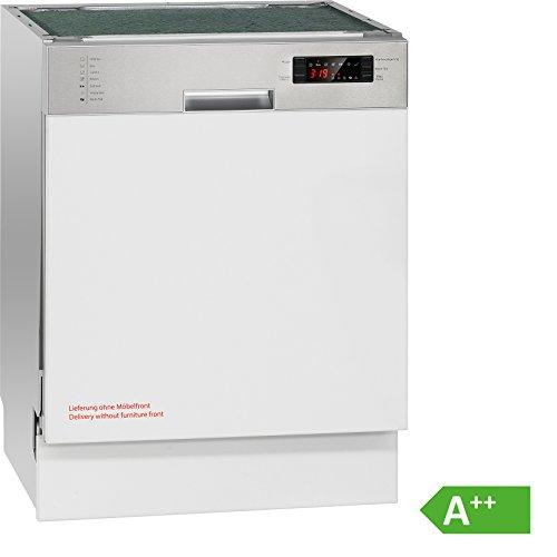 Bomann GSPE 884 Einbau-Geschirrspüler/A++/266 kWh/Jahr/teilintegrierte Ausführung 60 cm/14 MGD/3080 L/jahr/Edelstahlblende mit LED-Display