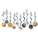 hgjhgkljhk Sistema Solar Remolinos Colgantes Decoraciones Tema Espacial Decoraciones de cumpleaños Remolinos Colgantes Cohete Planeta Astronauta para niños Decoraciones de Fiesta de cumpleaños