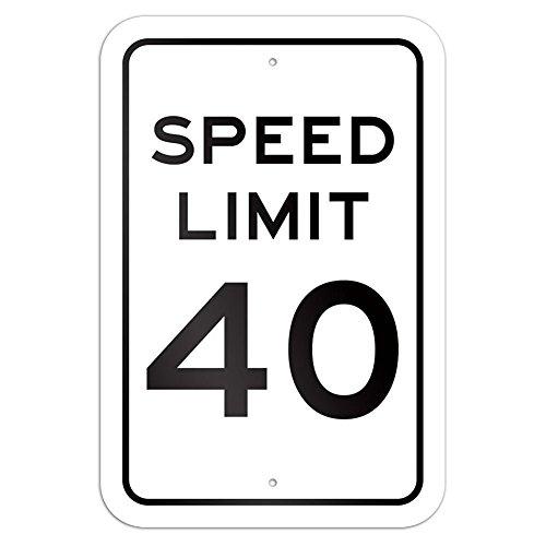 OneMtoss Schild Aluminum Sign, Speed Limit 40 9