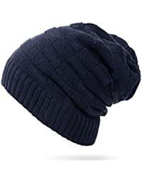087d79a71ab HILELIFE Knitted Slouchy Beanie Hats – Thick and Warm Winter Hat for  Outdoor