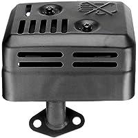 Nowakk Tipo de estación Total Sistema de silenciador de Escape Adecuado para Honda GX120 GX160 GX200 5.5 HP 6.5 HP Junta de Montaje