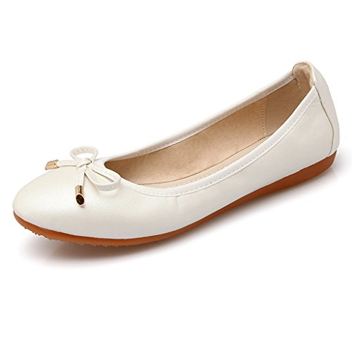 Eagsouni® Roll-Up Piegato Ballerine Flats Basse After Party Scarpe Tascabile Bianco