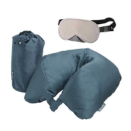 Travel Blue Federkissen Nackenkissen für den perfekten Schlafen Daunenkissen Flauschiges Traum-Kissen Reisekissen, 28 cm, Blau