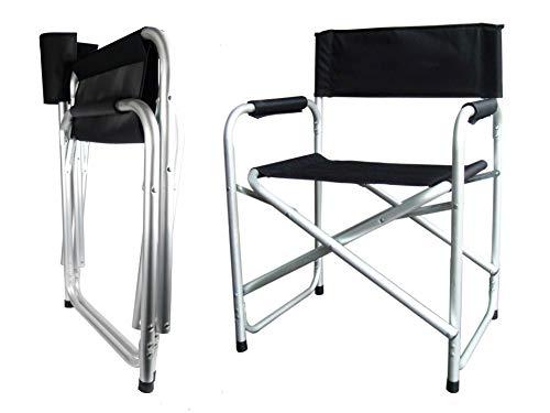 Hyfive Schwarz, Aluminium Directors Klappstuhl Armlehne Camping Angeln Stuhl (Stuhl-arm-protektoren)