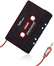 Car Cassette Tape Adapter,Highway Audio Music Player for Travel Cassette Converter with 3.55mm Audio Cable for