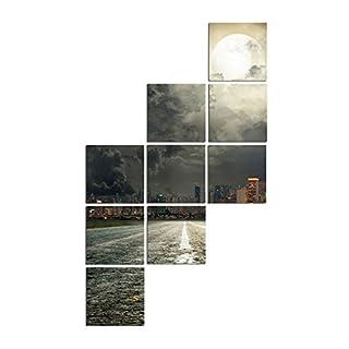 Asir Group LLC 240SUR2626 Square Dekorativ Forex Malerei, bunt