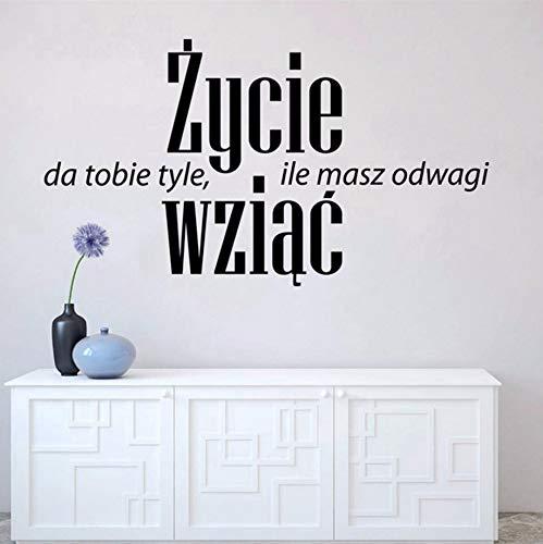 (Pbldb 55X31 Cm Polen Positive Zitate Wandaufkleber Home Office Art Decor, Leben Geben Ihnen Mut Vinyl Wandtattoos Kunst Wandbild)
