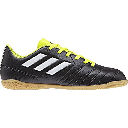 adidas Unisex-Kinder Fußball Hallenschuh Copaletto in Fußballschuhe, Schwarz (Schwarz/Weiß/Gelb 000), 36 2/3 EU