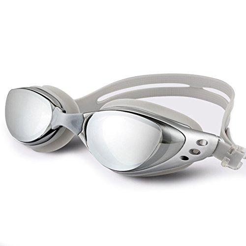 Schwimmbrille Schwimmbrille Anti-Nebel UV-Schutz Kein Auslaufen Breit View Triathlon Schwimmbrille mit Kostenlose Schutz Fall für Erwachsene Herren Frauen Youth Kinder Kind, B