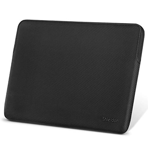 SHIELDON Laptop Tasche, 13-13,3 Zoll Sleeve Case, Schutzhülle Wärmeableitung, Wasserabweisende Stoßfeste Laptophülle Kompatibel mit MacBook Air Retina/MacBook Pro Retina/Surface Laptop2, Schwarz