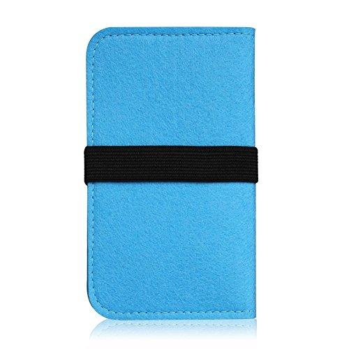 Filz Hülle für Apple iPhone 6s Plus / 6 Plus Tasche Cover Case Flip Filztasche , Farben:Türkis Türkis