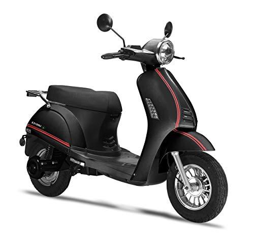 Elektroroller LuXXon E3100LI – Elektro Scooter mit 2000 Watt Bosch Motor, max. 25 km/h, Reichweite bis zu 60 km, schwarz