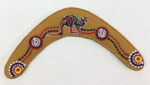 Boomerang DIY bestickt Nähen Eisen auf Patch P # 10