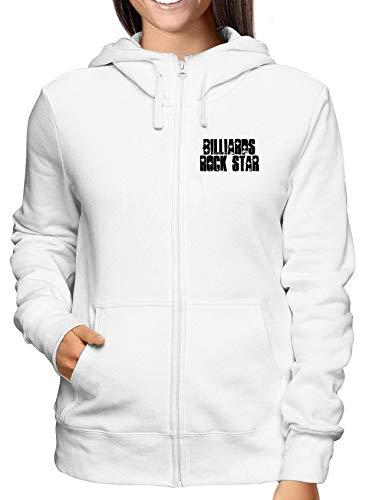 Sweatshirt Damen Hoodie Zip Weiss WTC1046 Billiards Rock Star Rock Star Zip Sweatshirt