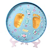 VISMIINTREND Baby Girl's and Baby Boy's Clay Handprint and Footprint Kit (Blue)