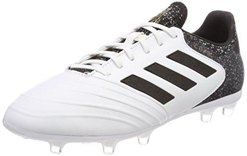 adidas Herren Copa 18.2 FG Fußballschuhe, Weiß (Footwear White/Core Black/Tactile Gold Metallic), 41 1/3 EU