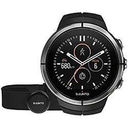 Suunto - Spartan Ultra Black HR - SS022658000 - Reloj Multideporte GPS + Cinturón de frecuencia Cardiaca (Talla M) - Talla única