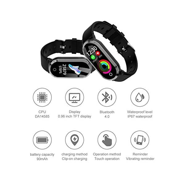 Top Vigor Fitness Tracker Waterproof Watch For Women Activity Pedometer Tracker With Calorie Step CounterSleep MonitorHeart Rate MonitorBlood Pressure MonitorSedentary Reminder For Android IPhone