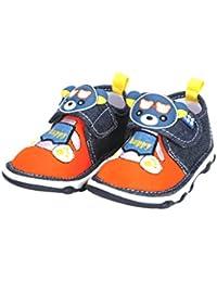 Mee Mee First Walk Baby Shoes with Chu Chu Sound (21 EU, Red)