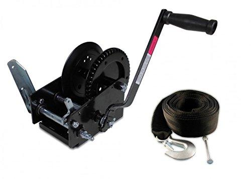 Trailerwinde 1100 kg + Trailerwindengurt 7,5 - Gurt Boot Trailer