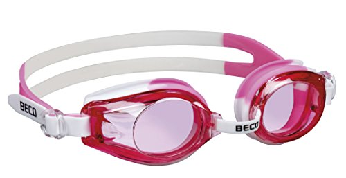 Beco Kinder Rimini Schwimmbrille 9926, mehrfarbig - Weiß/Pink, Einheitsgröße - One Size